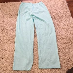 Shadowline 36 medium mint green nylon pj pants